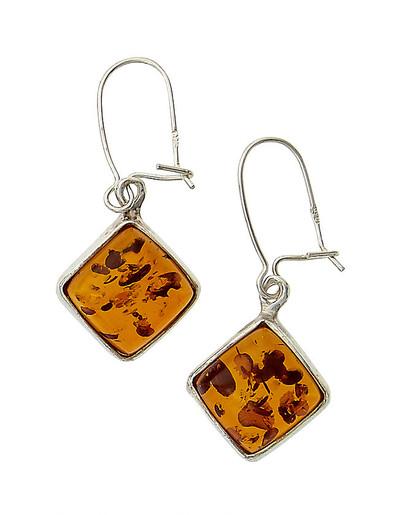 Earrings in Cognac Amber