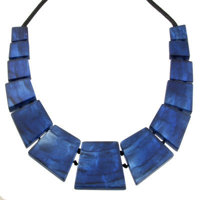 Navy Blue Aztec Necklace