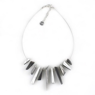 Icicle Necklace - Black/White