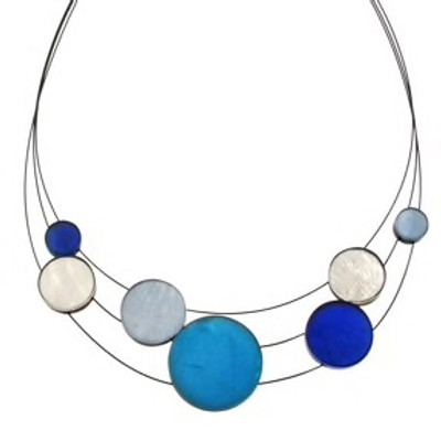 """Aquarius Combi""  3-Strand Planetary Necklace"