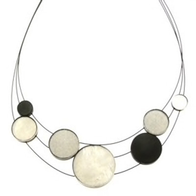 """Grey Combi"" 3-Strand Planetary Necklace"
