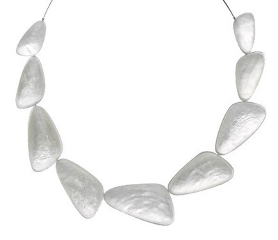 White Triangular Resin Necklace
