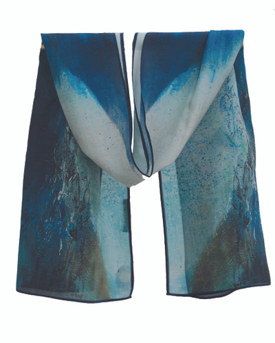 Sapphire Silk Scarf