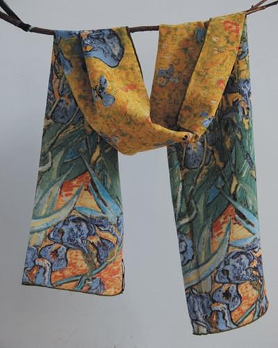 Van Gogh Irises Silk Scarf