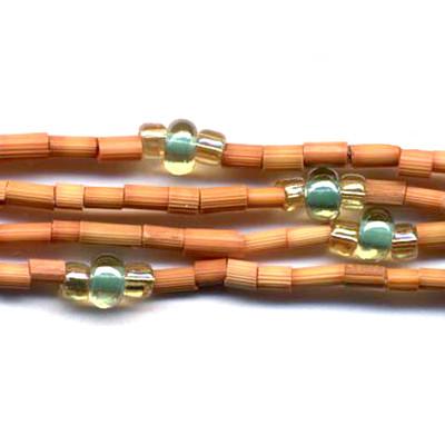 handmade single strand zulugrass african bead jewelry in ochre sands