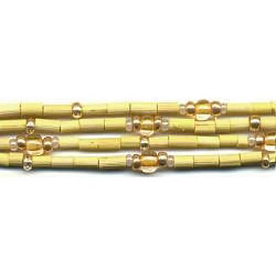 handmade single strand zulugrass african bead jewelry in lemon chiffon