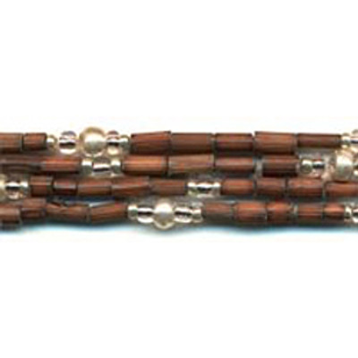 handmade single strand zulugrass african bead jewelry in brown safarisilver