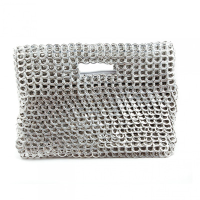 soda tab purse sendy handbag in silver