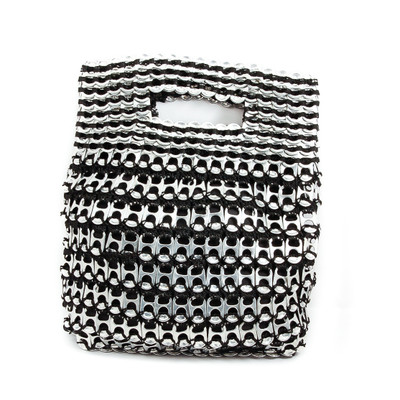 soda tab purse silvia handbag in black