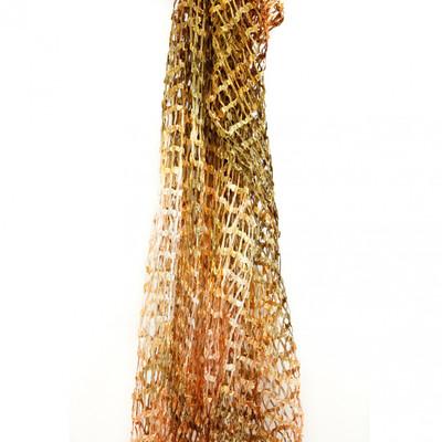 silk scarf open weave seashore medley