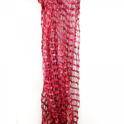 silk scarf open weave raspberry sorbet