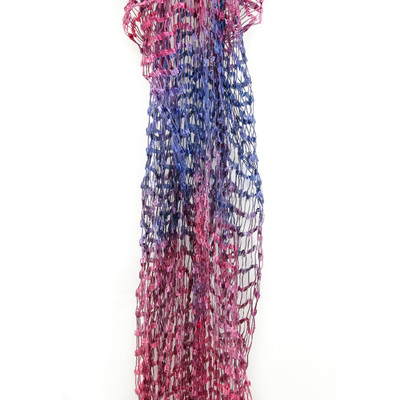 silk scarf open weave andalusian sunset