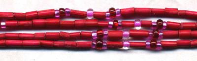 "26"" Handmade African Bead Jewelry Strand in Cherry"