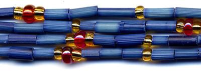 "26"" Handmade African Bead Jewelry Strand in Agama Esoit"