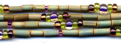 "26"" Handmade African Bead Jewelry Strand in Grasshopper"