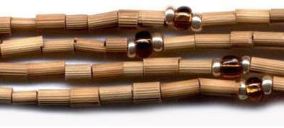 """26"""" Handmade African Bead Jewelry Strand in Dark Honey"""