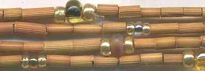 "26"" Handmade African Bead Jewelry Strand in Pebbles"