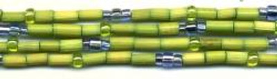 """26"""" Handmade African Bead Jewelry Strand in Lime Zest"""