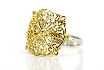 "Gold ""Filigree"" Ring"