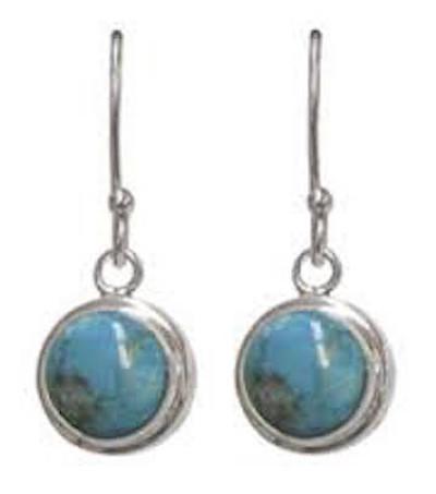 Turquoise Earrings with Fishhook