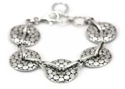 5-Silver Disks Bracelet