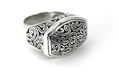 "Sterling Silver ""Filigree"" Ring"