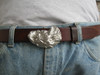 oyster shell buckle in sterling for up to 1 1/2 belts