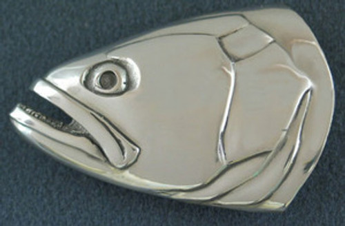 Bluefish Belt Buckle in Sterling Silver
