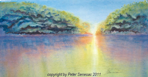 Painting of 'Mangrove Light' in Watercolor on Paper
