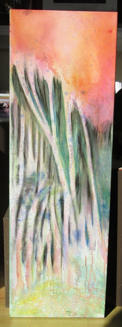 The Swamp Acrylic on canvas 12 x 36 inches