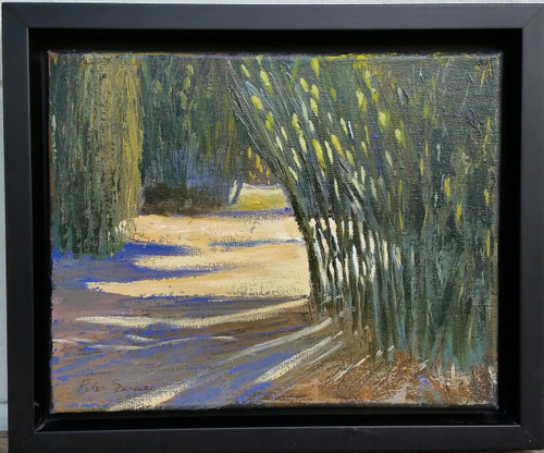 Bamboo Forest Acrylic on canvas 8 x 10