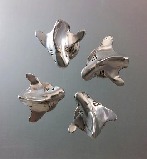 Circling Sharks Shirt Studs, set of four group shot