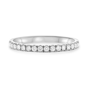 Stackable Round White Diamond Band