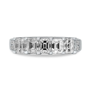 Five Stone Emerald Cut Diamond Band