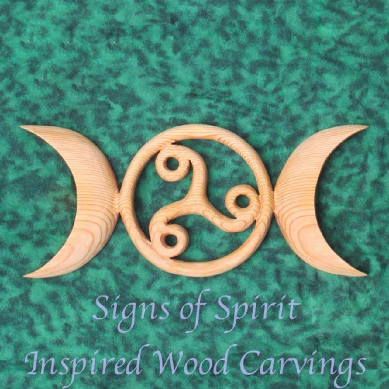 Celtic Moon Goddess Symbol With Triskele Birth Death Rebirth Triple