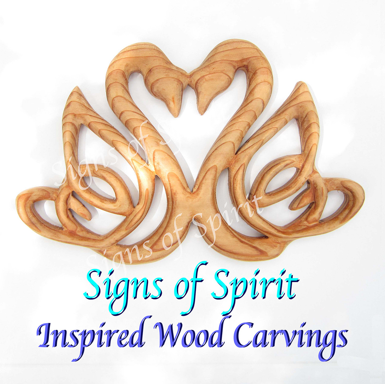 Swan heart celtic knot of love and marriage double swan celtic swan heart wood carving by signs of spirit biocorpaavc