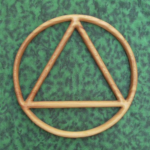 Sobriety Circle And Triangle Alcoholics Anonymous Symbol Signs Of