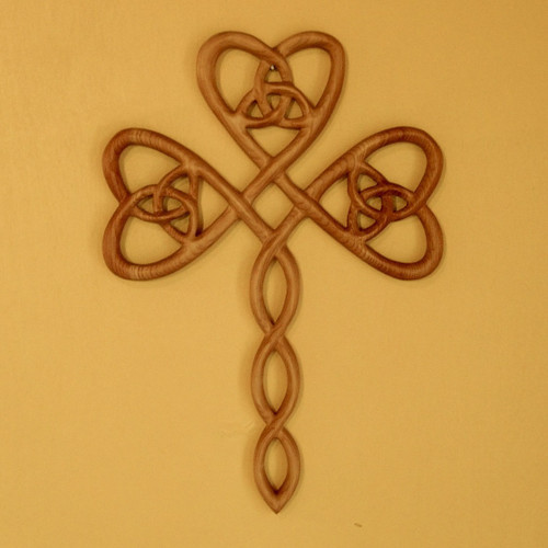 Trinity Heart Shaped Celtic Wood Carving Hearts Belief Holy