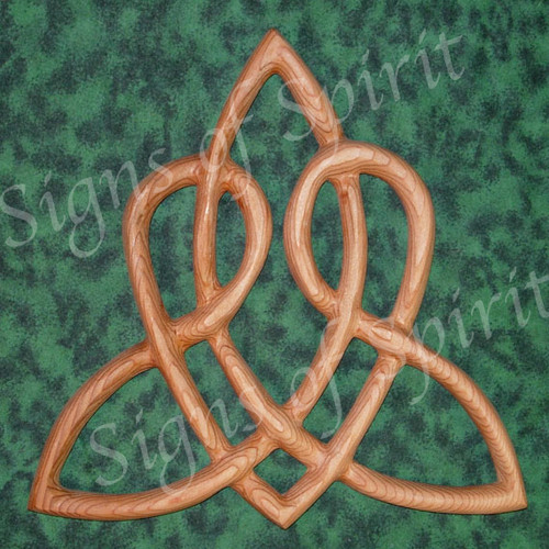 Celtic Heart Love Knottriquetra Of Everlasting Lovewood Carved