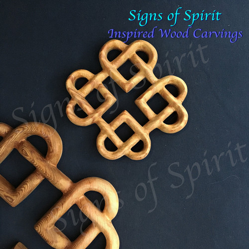 Four Hearts Squared Celtic Love Knot Lifetime Of Love Symbol