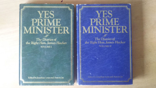 James Hacker Diaries - Yes Prime Minister Volume 1 & 2 Hardcover BBC Comedy