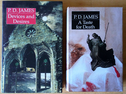 James, P.D - 2 Book Lot - Adam Dalgleish- Devices & Desires & A Taste For Death HB Crime