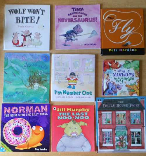 9 BOOK LOT - Illustrated Children's Picture Books - HB & PB Early Reading