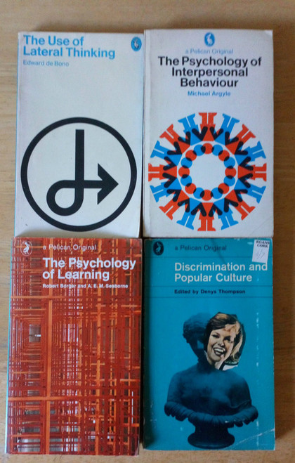 Collection Lot - 4 Vintage Penguin Pelican Pbs - Psychology, Learning  Thinking &  Popular Culture