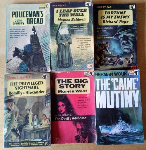 Lot of 6 Vintage Pan Paperbacks 1950's & 1960's