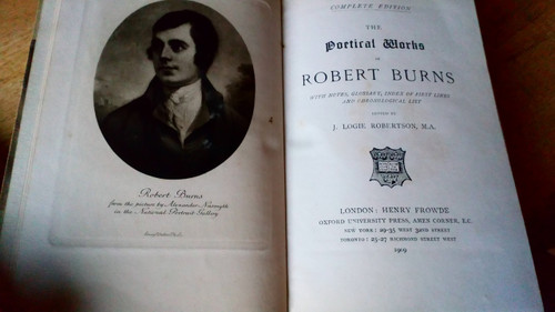 Robert Burns - Complete Poems & Ballads , Vintage Oxford Hardcover 1909