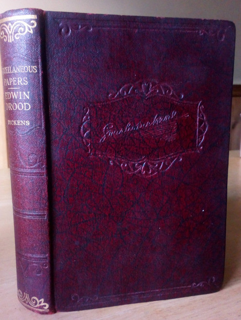 Dickens, Charles - Edwin Drood & Miscellaneous Papers HB Ed 1930's