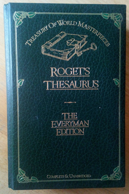 Roget's Thesaurus - Hardcover Leather Effect- Classic Reference Work