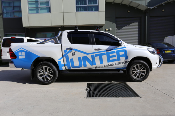 Hunter Bathrooms Ute Graphics
