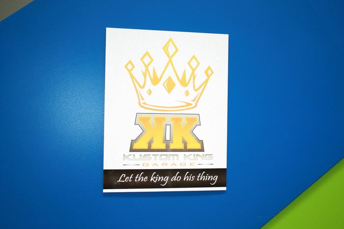 Kustom King Reflective Print